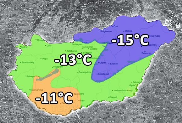 A téli méretezési külső hőmérséklet Magyarországon